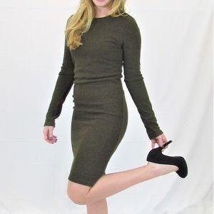 Alice + Olivia Sweater Dress Black Lace back NWT